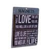 American Mercantile 3 Piece Wood Magnets 'Love' Wall Decor Set