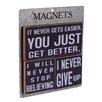 American Mercantile 3 Piece Wood Magnets 'Get Better' Wall Decor Set