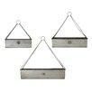 3-Piece Metal Hanging Planter Set - American Mercantile Planters