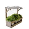 American Mercantile Wood Planter with Metal Pot