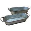 2-Piece Metal Pot Planter Set - American Mercantile Planters