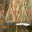The Gardens Galvanized Steel Hanging Planter Set - American Mercantile Planters