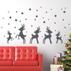Style and Apply Christmas Reindeer in Snow Wall Decal