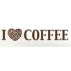 Style and Apply I Love Coffee Wall Decal