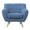Madison Home USA Mid-Century Modern Tufted Fabric Club Chair