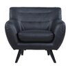 Madison Home USA Mid Century Modern Tufted Bonded Leather Club Chair