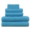 Makroteks Textile L.L.C. Lucia Minelli Jacquard Mei Tal Classic 6 Piece Towel Set