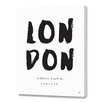Curioos London Location by Renee Tohl Textual Art on Canvas