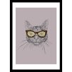 Curioos Cat's Eye Sunglasses by Huebucket Framed Graphic Art