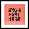 Curioos Exch by Apachennov Framed Textual Art