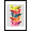 Curioos DuckColor by Eleaxart Framed Graphic Art