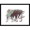 Curioos Bug Monster 08 by Ahmet Ozcan Framed Graphic Art