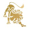 Prestige Art Studios Leo Gold Foil Graphic Art