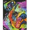 Prestige Art Studios Peeking Bulldog Painting Print