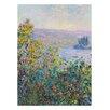 Prestige Art Studios Flower Beds at Vetheuil by Claude Monet Painting Print