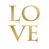 Prestige Art Studios Love Gold Foil Textual Art
