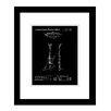 Prestige Art Studios Gibson Explorer Guitar Patent Framed Graphic Art