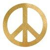 Prestige Art Studios Peace Gold Foil Painting Print