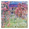 Prestige Art Studios The House of Roses by Claude Monet Painting Print