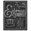 Prestige Art Studios Espresso Yourself by Fiona Stokes-Gilbert Vintage Advertisement