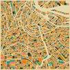 Prestige Art Studios Amsterdam Retro Map Graphic Art