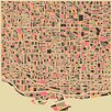 Prestige Art Studios Toronto Retro Map Painting Print