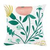 Elizabeth Olwen Whimsy Blooms Embroidered Throw Pillow