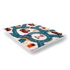 Flora Carpets Olbios White/Dark Blue Area Rug