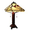 """Fine Art Lighting Tiffany 24"""" H Table Lamp with Empire Shade"""