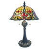 "Fine Art Lighting Tiffany 24"" H Table Lamp with Bowl Shade"
