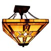 Fine Art Lighting Tiffany 2 Light Semi Flush Mount
