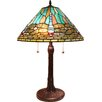 """Fine Art Lighting Tiffany Dragonfly 24"""" H Table Lamp with Empire Shade"""