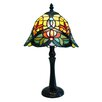 """Fine Art Lighting Tiffany 16"""" H Table Lamp with Bell Shade"""