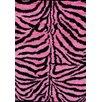 Persian-rugs Tobis Modern Shag Zebra Pink Area Rug