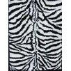 Persian-rugs Tobis Modern Shag Zebra White Area Rug