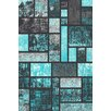 Persian-rugs Tobis Modern Turquoise Area Rug