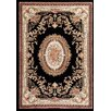 Persian-rugs Traditional Black Area Rug