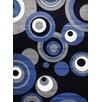 Persian-rugs Modern Blue Area Rug