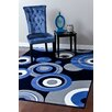 Persian-rugs Modern Blue Area Rug