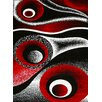 Persian-rugs Abstract Red Area Rug