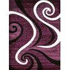 Persian-rugs Abstract Purple Area Rug