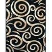 Persian-rugs Swirl Oriental Black Area Rug