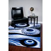Persian-rugs Abstract Blue Area Rug