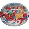 Creative Converting Seafood Celebration Oval Plate (Set of 8)