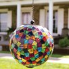 Hanging Mosaic Solar Orb - Carson Home Garden Statues and Outdoor Accents