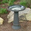 Fiber Clay Birdbath - Color: Sand - Tierra Garden Bird Baths