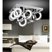 Crystal World Ring 54 Light LED Flush Mount
