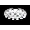 Crystal World Paulina 19 Light LED Flush Mount