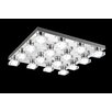 Crystal World Paulina 16 Light LED Flush Mount