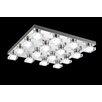 Crystal World Paulina 16 Light LED Flush Mount